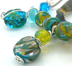 new lampwork silver necklaes
